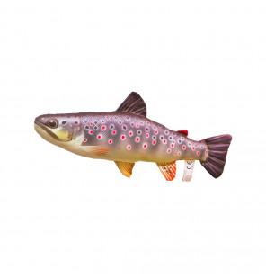 Gaby Fischkissen Bachforelle Mini 36cm, Plüschfisch, Stofftier Gaby Mini Fish