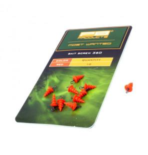 PB Products Bait Screw 360 - Red, 10 Stück PB Products Stopper & Baitscrews