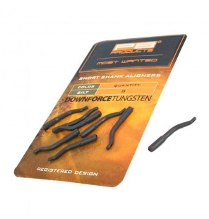 PB Products DT Short Shank Aligners - Silt, 8 Stück PB Products Vorfachmaterial & Montage-Zubehör