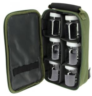 NGT Green Glug Bag inkl. 6 Köderdosen Futtertasche NGT Zubehörtaschen