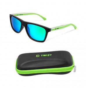 Delphin Polarized Sunglasses SG TWIST Green Glasses Sonnebrille inklusive Hardcase Delphin Polaroid Brillen & Zubehör