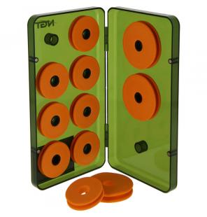 NGT 8+3 Rig Winders Box Vorfachbox mit 11 EVA-Wicklern NGT Tackle Boxen