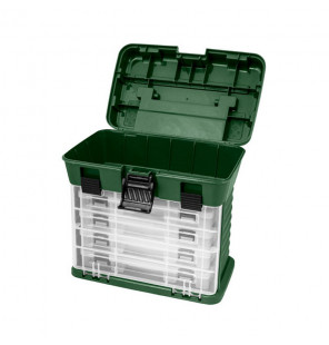 Delphin TBX MegaCase Clip Tackle Box Angelkoffer 290x190x265mm Delphin Tackle Boxen