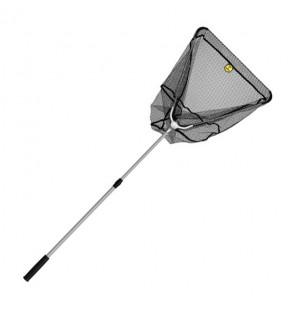 Delphin Kescher mit Metall V-Block gummiertes Netz 60x60cm klappbar Delphin Kescher & Kescherzubehör
