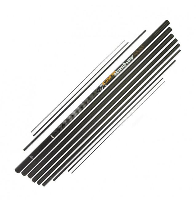 NGT Carp Basher Pole 11m Carbon Stipprute NGT Karpfenruten