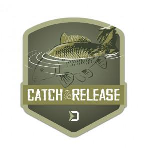 Delphin Sticker CATCH and RELEASE, 9x8cm Aufkleber Delphin Diverses