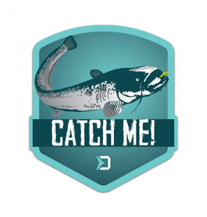 Delphin Sticker CatchME! CATFISH, 9x8cm Aufkleber Delphin Diverse Geschenkideen