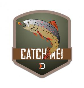 Delphin Sticker CatchME! TROUT, 9x8cm Aufkleber Delphin Diverse Geschenkideen