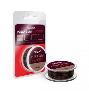 Delphin Powa Gum Absorber braun 1mm 8kg 7m Power-Gummi Delphin Vorfachmaterial & Montage-Zubehör