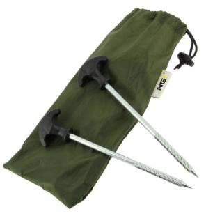 NGT Bivvy Pegs mit Tasche 10 Zeltheringe NGT Schirme & Zelte