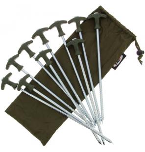 NGT Bivvy Pegs Large mit Tasche 10 Zeltheringe NGT Schirme & Zelte