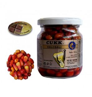 CUKK Sweet Corn Schokolade-Orange 220ml braun gefärbt Mais im Glas CUKK Hookbaits
