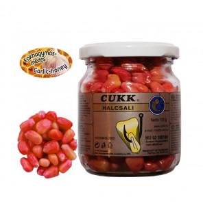 CUKK Sweet Corn Knoblauch-Honig 220ml pink gefärbt Mais im Glas CUKK Hookbaits