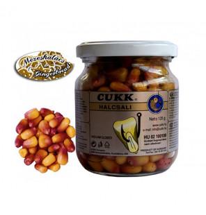 CUKK Sweet Corn Lebkuchen 220ml braun gefärbt Mais im Glas CUKK Hookbaits