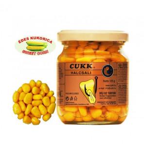 CUKK Sweet Corn Fragrant 220ml gelb gefärbt Mais im Glas CUKK Hookbaits