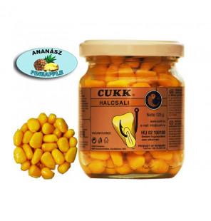 CUKK Sweet Corn Ananas 220ml gelb gefärbt Mais im Glas CUKK Hookbaits