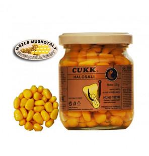 CUKK Sweet Corn Honig & Muskatnuss 220ml gelb gefärbt Mais im Glas CUKK Hookbaits