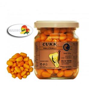 CUKK Sweet Corn Mango 220ml orange gefärbt Mais im Glas CUKK Hookbaits