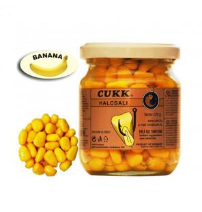 CUKK Sweet Corn Banane 220ml gelb gefärbt Mais im Glas CUKK Hookbaits