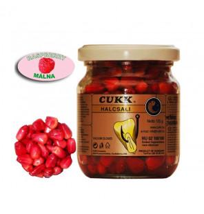 CUKK Sweet Corn Himbeere 220ml rot gefärbt Mais im Glas CUKK Hookbaits