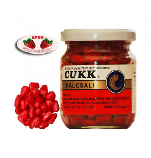 CUKK Sweet Corn Erdbeere 220ml rot gefärbt Mais im Glas CUKK Hookbaits