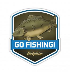 Delphin Sticker Go Fishing! Aufkleber Delphin Diverse Geschenkideen