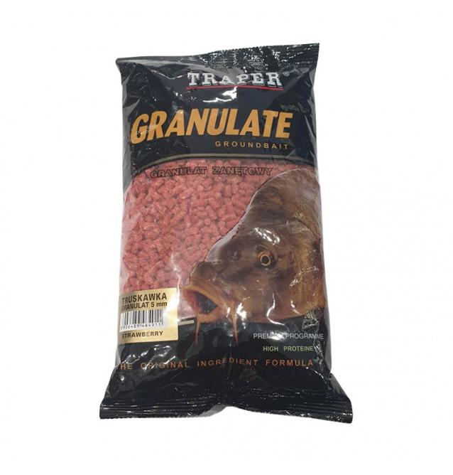 Traper Groundbait Granulat 5mm 1Kg Erdbeere Pellets Traper Startseite