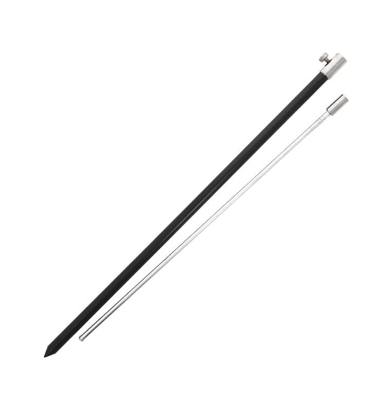 NGT Black Aluminium Bank Stick Large 50-90cm NGT Rod Pod´s, Banksticks & Buzzerbars
