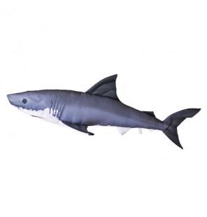 Gaby Fischkissen weißer Hai Giant 120cm, Plüschfisch, Stofftier Gaby Giant Fish