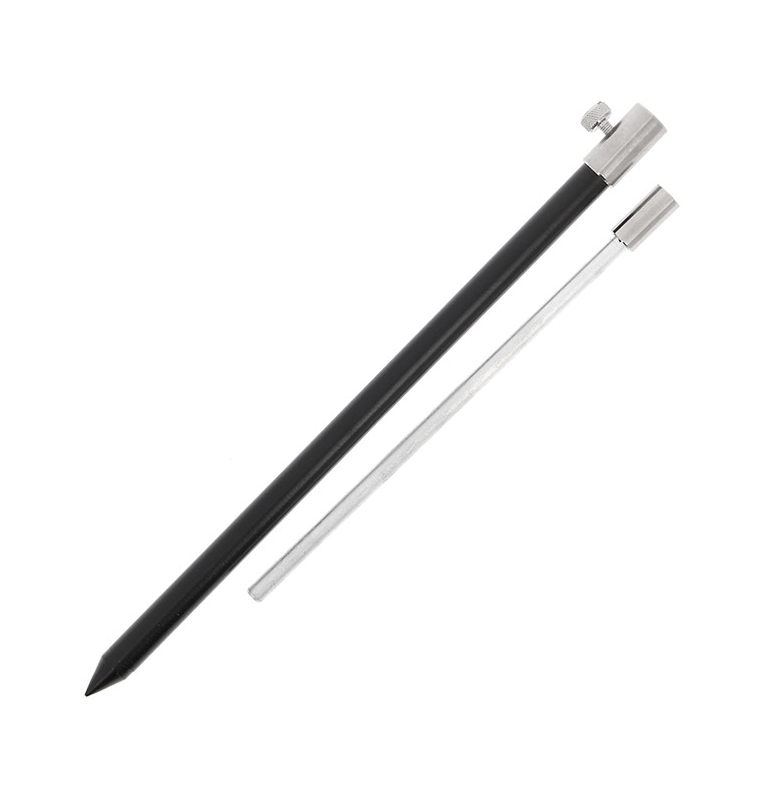 NGT Black Aluminium Bank Stick Medium 30-50cm NGT Rod Pod´s, Banksticks & Buzzerbars
