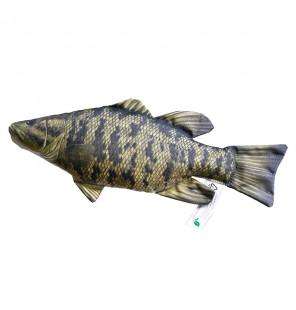 Gaby Fischkissen Schwarzbarsch Mini 35cm, Plüschfisch, Stofftier Gaby Mini Fish