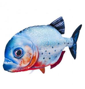 Gaby Fischkissen Rotbauch-Piranha Big 47cm, Plüschfisch, Stofftier Gaby Big Fish