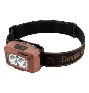 Delphin RGW PRO Head Lamp 200lm Bewegungssensor Rot/Grün/Weiß Kopflampe Delphin Kopflampen