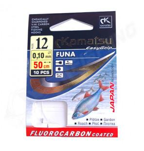 Kamatsu Fluorcarbon Vorfach FUNA 50cm 0,10mm Gr.12 Kamatsu Vorfächer