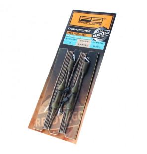 PB Products Ready 2 Go DF Extra Safe Heli-Chod Leader Gravel 90cm 2 Stück PB Products Vorfächer