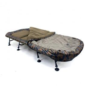 Skills Camo Sleep System, 8 Bein Angelliege mit integriertem Schlafsack, Bedchair Skills Angelliegen & Angelstühle