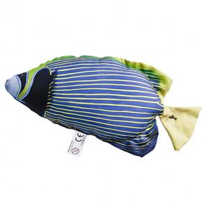 Gaby Fischkissen Imperator-Kaiserfisch Blau Mini 32cm, Plüschfisch, Stofftier Gaby Mini Fish