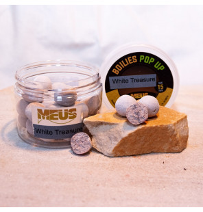 Meus JJ-Fishing Edition Pop Up 15mm White Treasure, Köder JJ-Fishing Pop Up´s