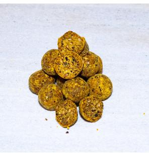 Meus Exklusiv Boilies 18mm 1kg Yellow Dragon Köder JJ-Fishing Boilies
